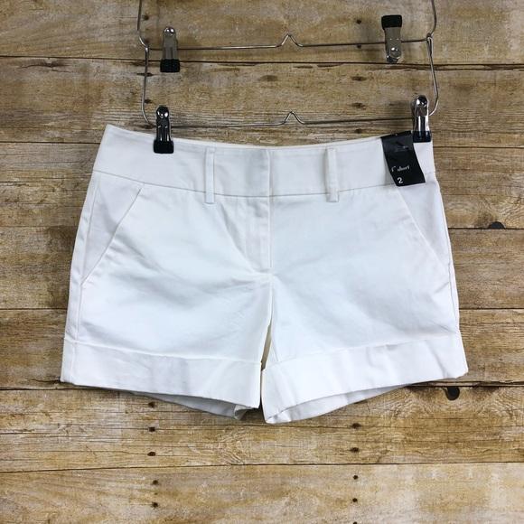 """New York & Company Pants - NWT NY&C Off White 4"""" Shorts Sz 2"""